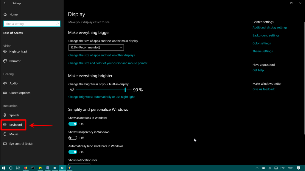 How To Enable And Disable Sticky Keys in Windows 10