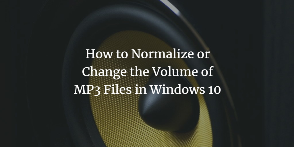 Normalize MP3 Files