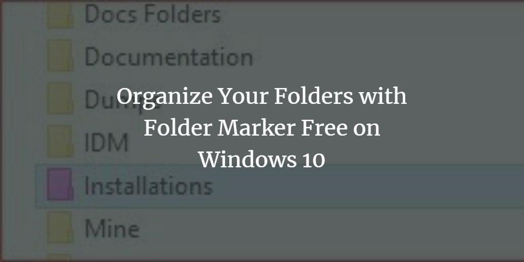 Set Folder Color in Windows 10