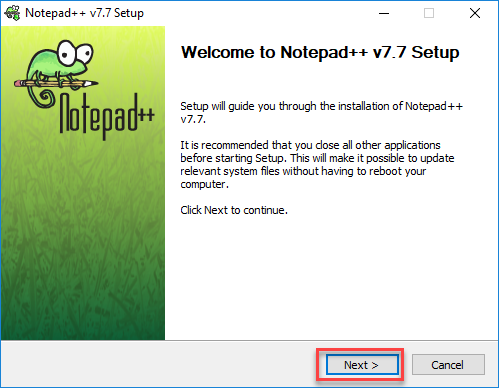 Notepad++ Installer