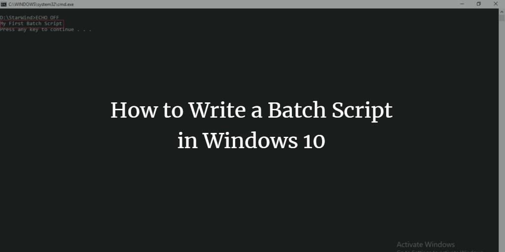 Windows Batch Scripting