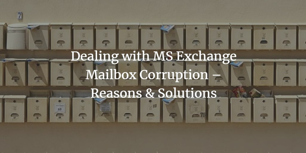 Fix corrupted Exchange Mailbox