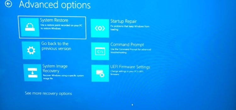 5 Ways to Get to the Windows 10 Advanced Startup Options Menu