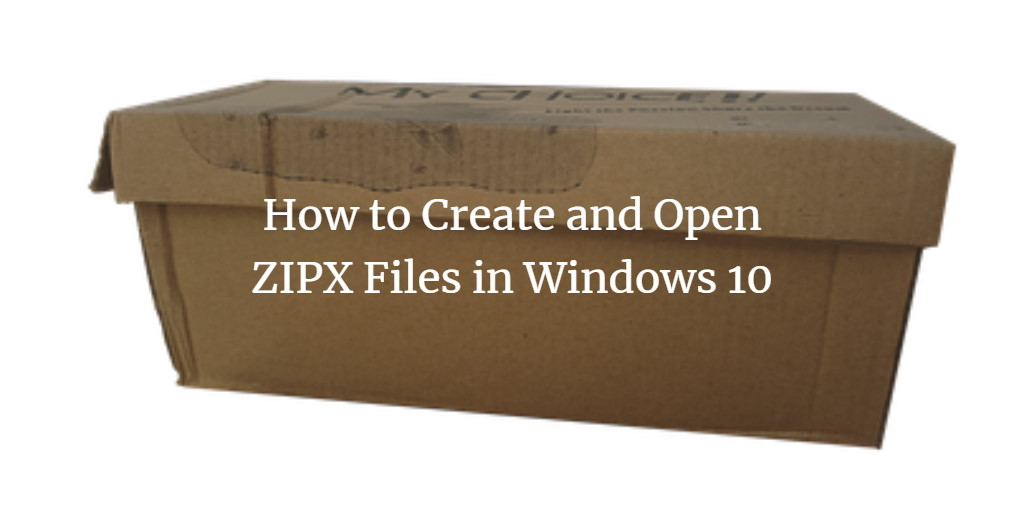 Windows ZipX Files