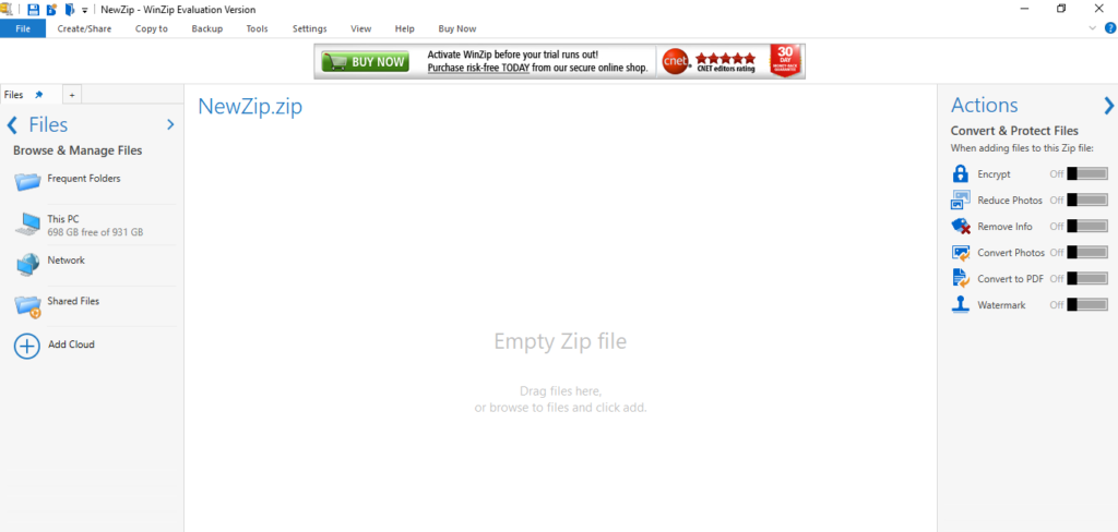 Empty Zip file