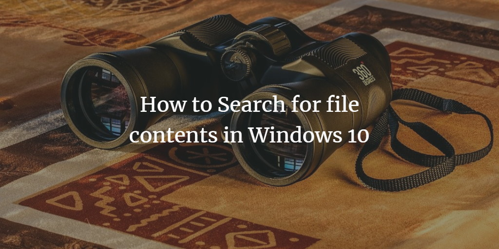 Windows Fulltext Search