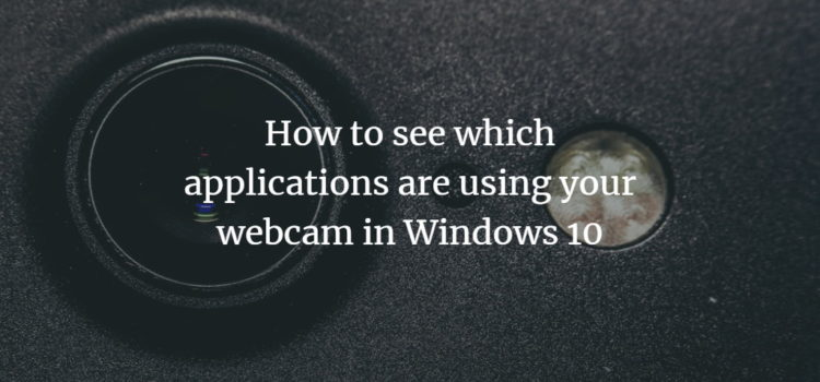 Windows Webcam App list