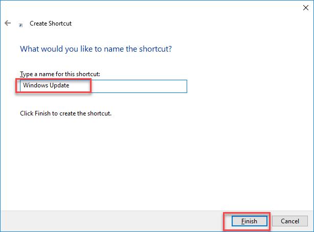 Shortcut name
