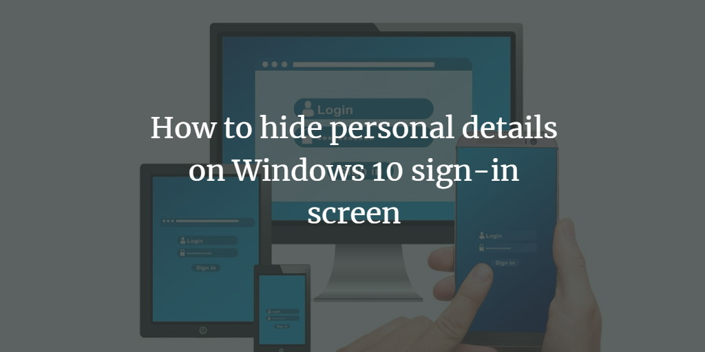 Hide Windows Login Details