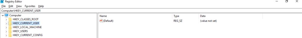 Open Registry key