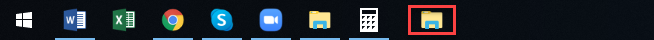 Folder Icon is visible in Taskbar