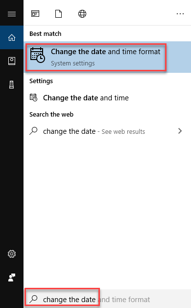 Change date and time format