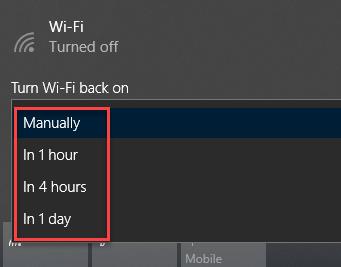 Turn Wi-Fi back on