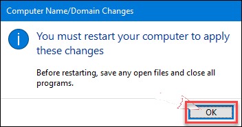 Restart computer to apply changes