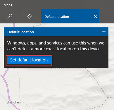 Set default location