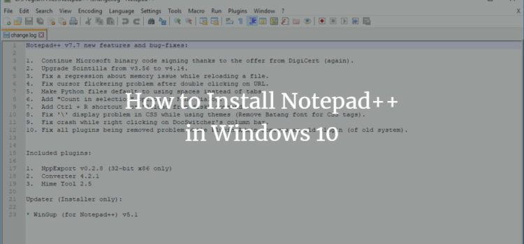 How to Install Notepad++ in Windows 10