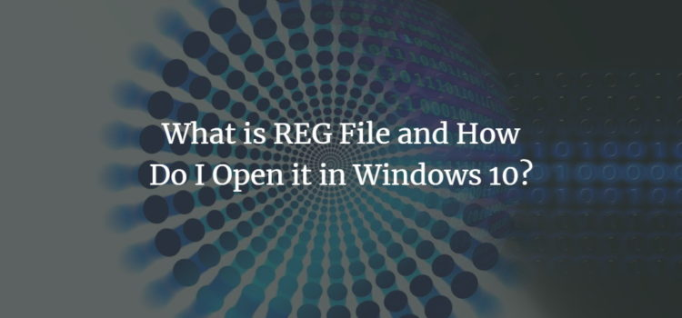What is REG File and How Do I Open it in Windows 10?