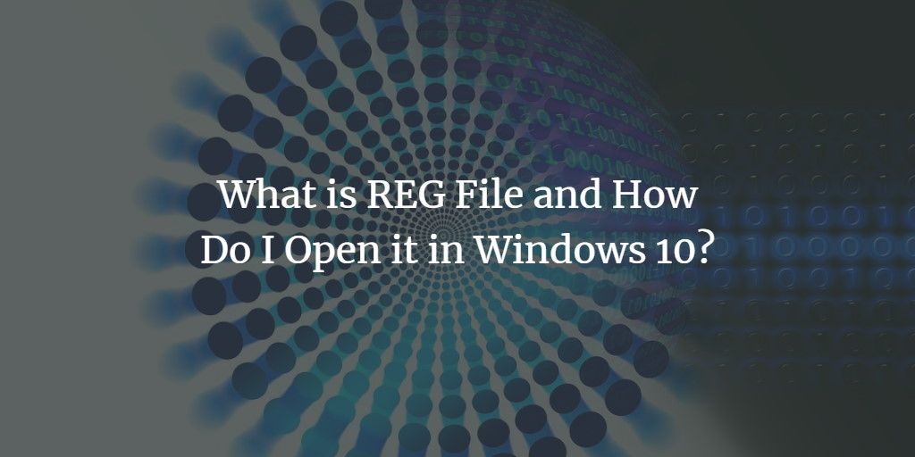 Windows Registry (REG) Files