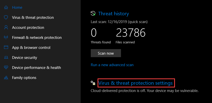 , How to enable Defender Antivirus for Windows Security on Windows 10