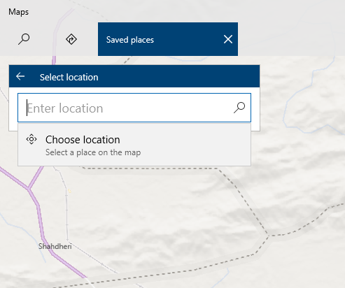 , How to save Windows 10 Maps Favorite Places