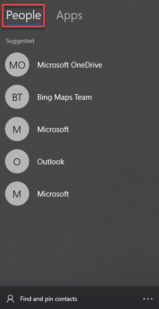 """, How to use """"My People"""" within the taskbar of Windows 10"""
