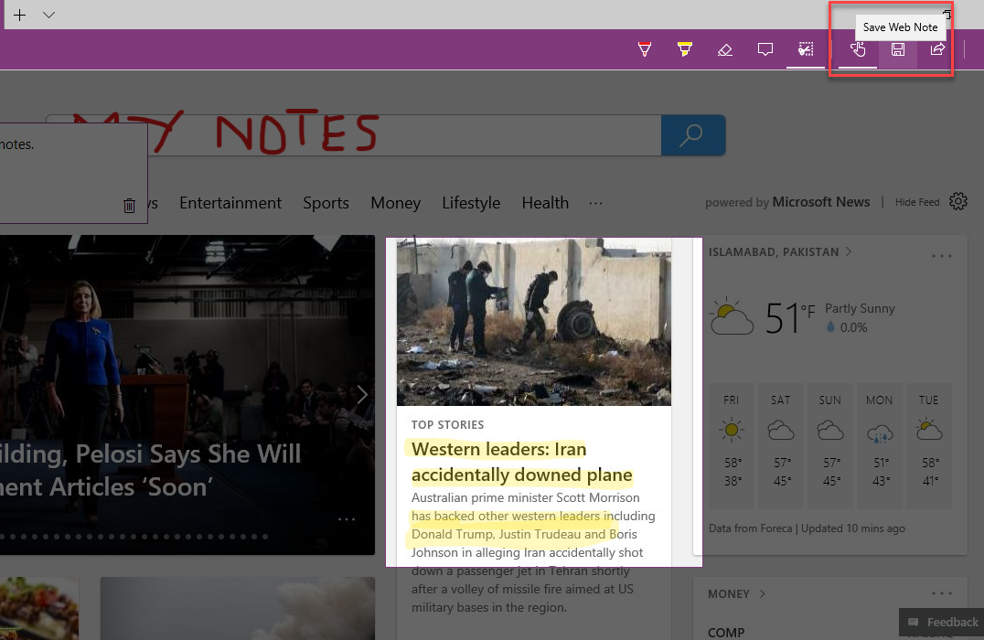 , How to make notes on web pages with Microsoft Edge in Windows 10