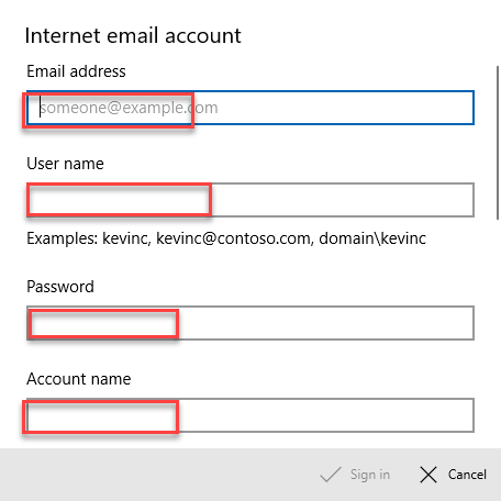 , How to set up a POP3 Email Account in Windows 10