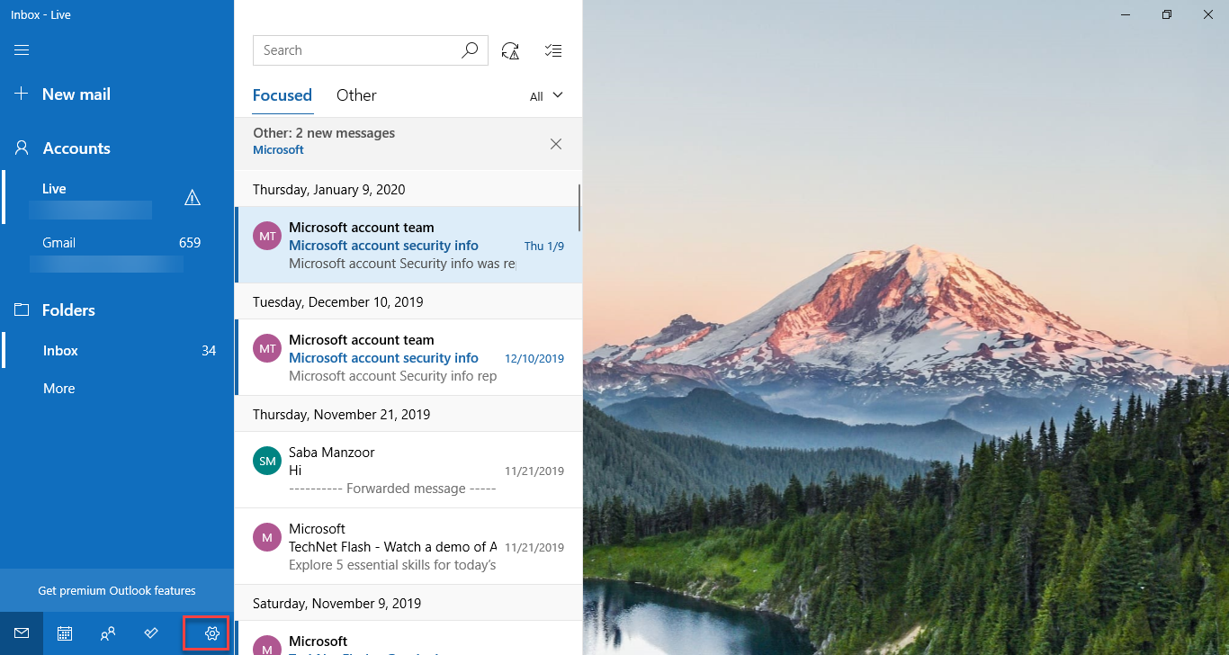 , How to setup and customize Windows 10 email accounts