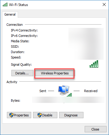 , How to view Windows 10 WLAN password