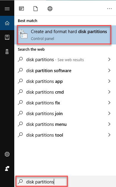 , How to resize a free partition in Windows 10