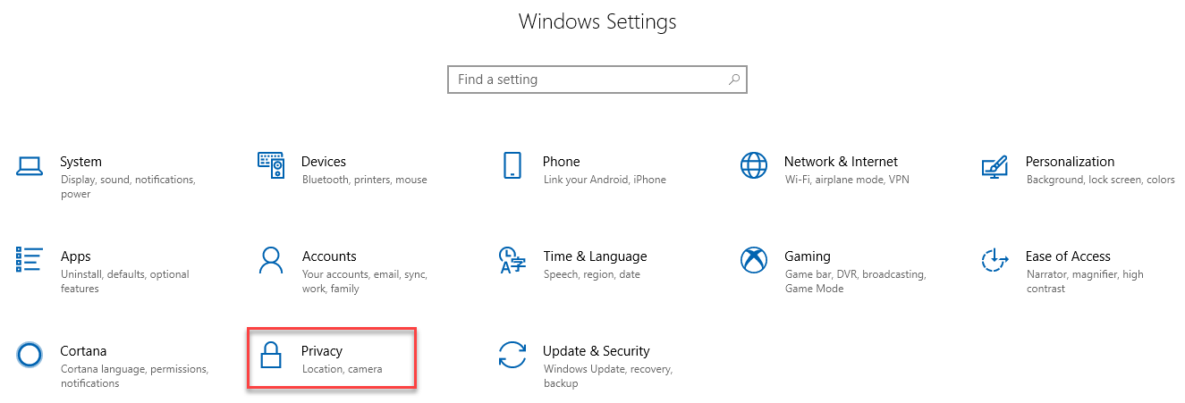 , How to deactivate and customize location tracking in  Windows 10