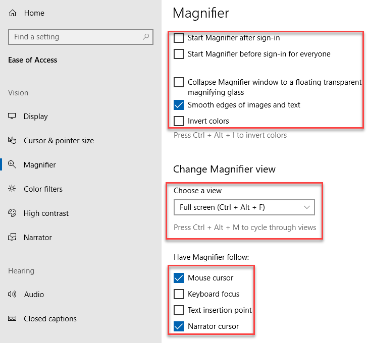 , How to use the Magnifier in Windows 10
