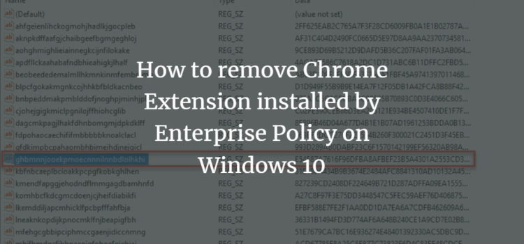 Chrome Enterprise Policy Removal