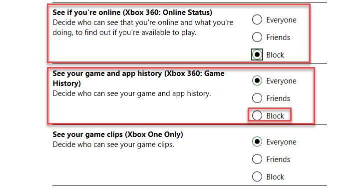, How to stop Windows 10 telling friends which Xbox games you're playing