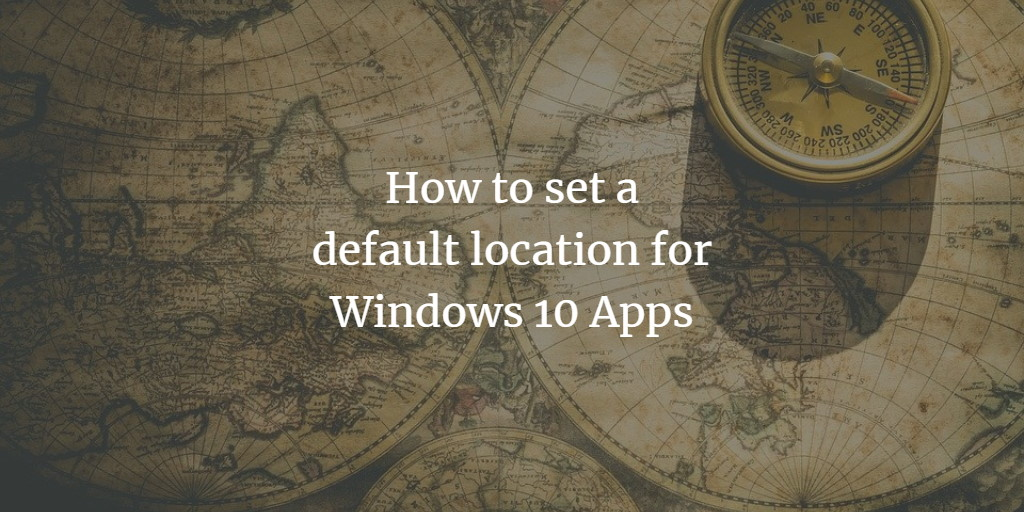 App default location