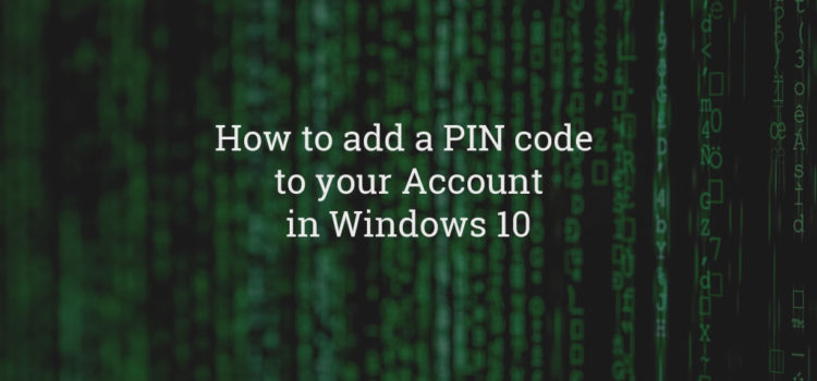 Windows Account PIN