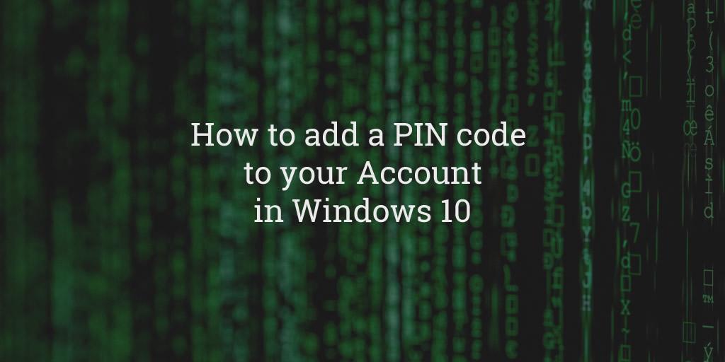Windows Account PIN
