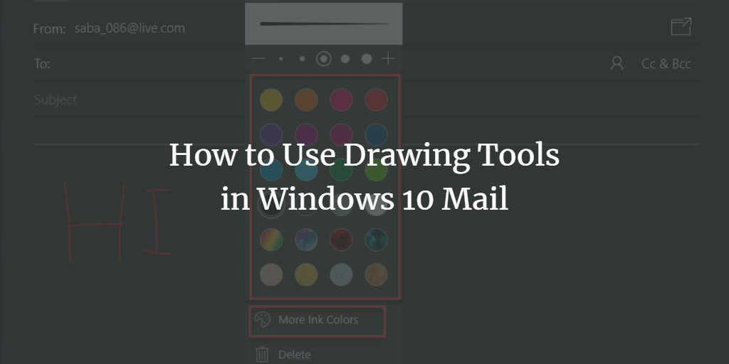 Windows Mail Drawing Tools
