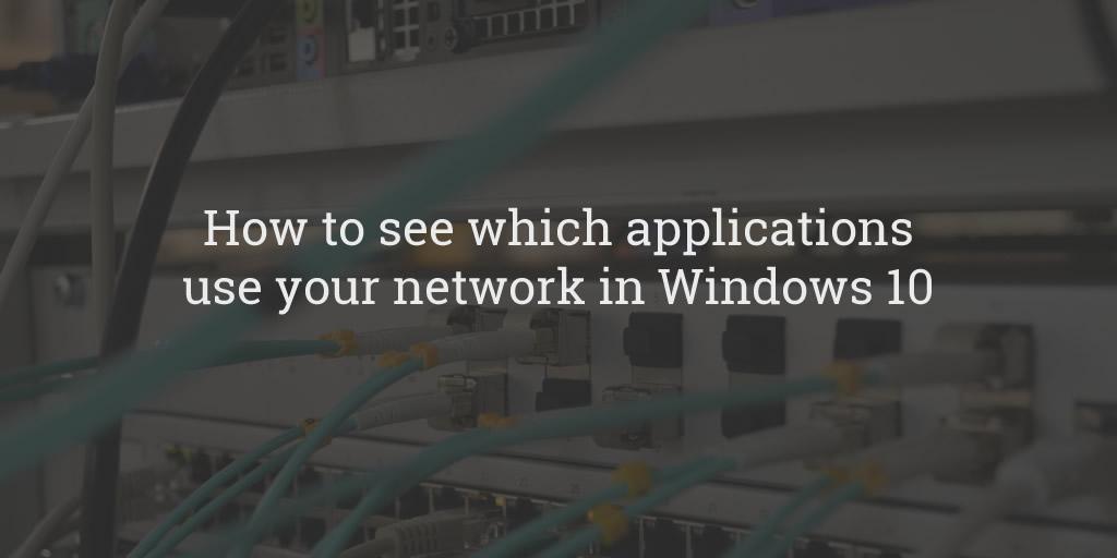 Windows Network Usage