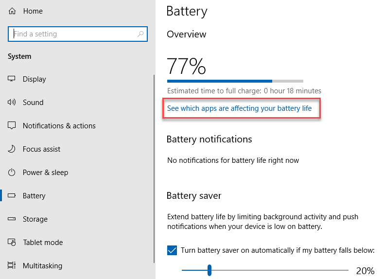 Which apps affect battery life
