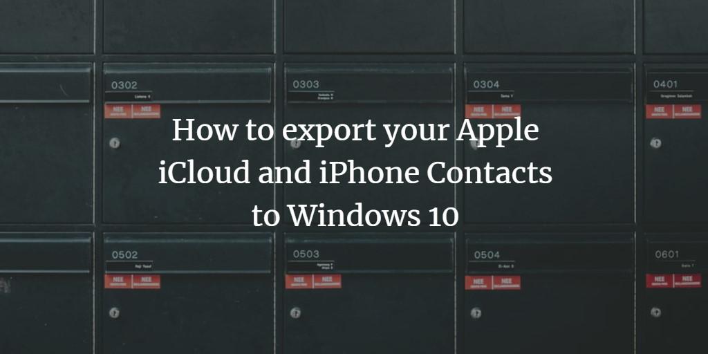iCloud address export
