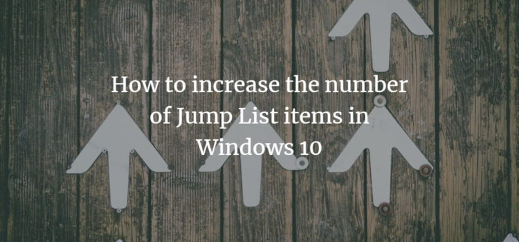 Increase number of jump list items