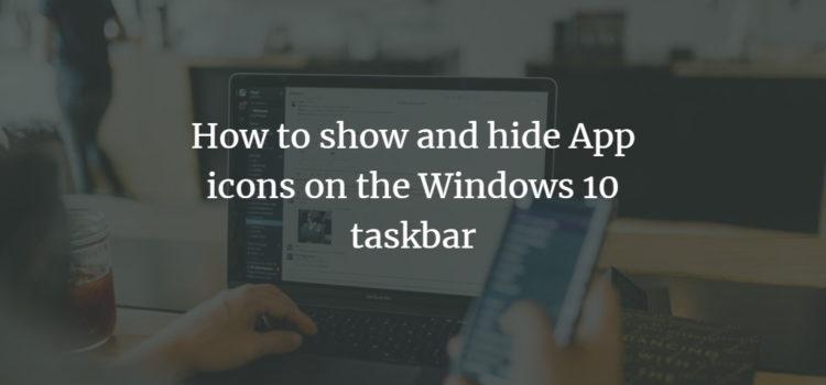 Windows Taskbar Icons