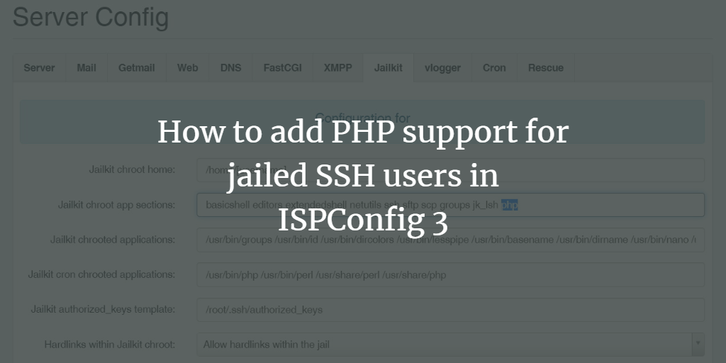ISPConfig PHP Jail
