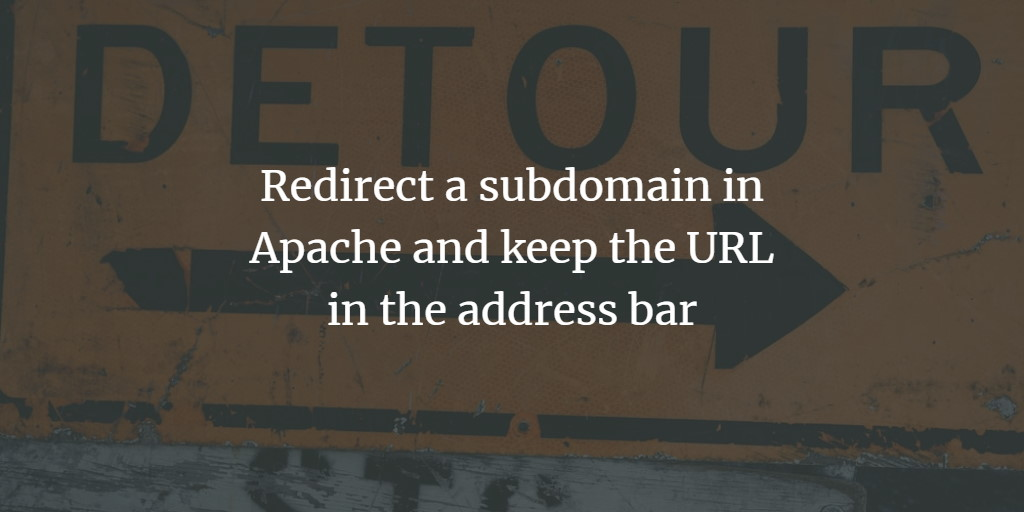 Apache Redirect