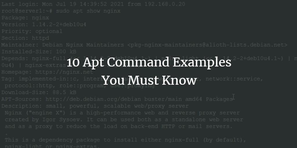 apt command examples