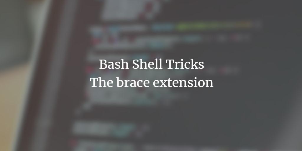 BASH brace extension