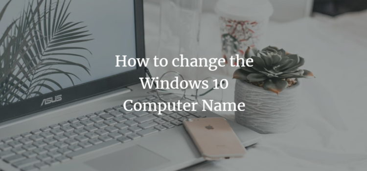 Change Windows Computer name