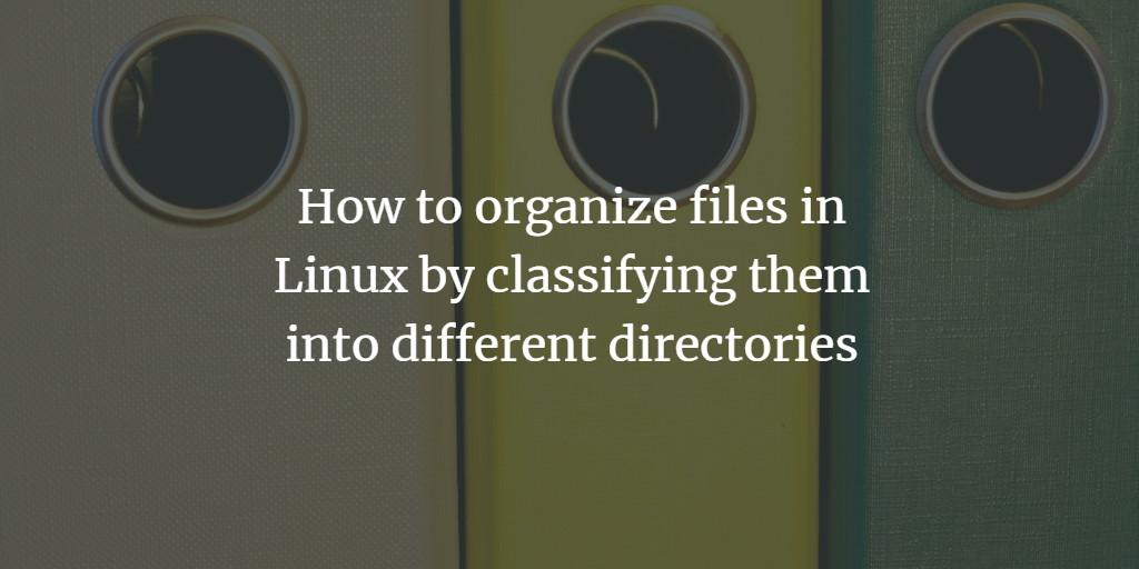 Classify files