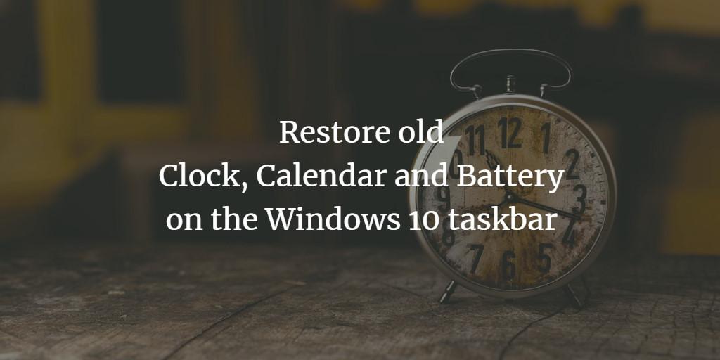 Old Taskbar Icons on Windows